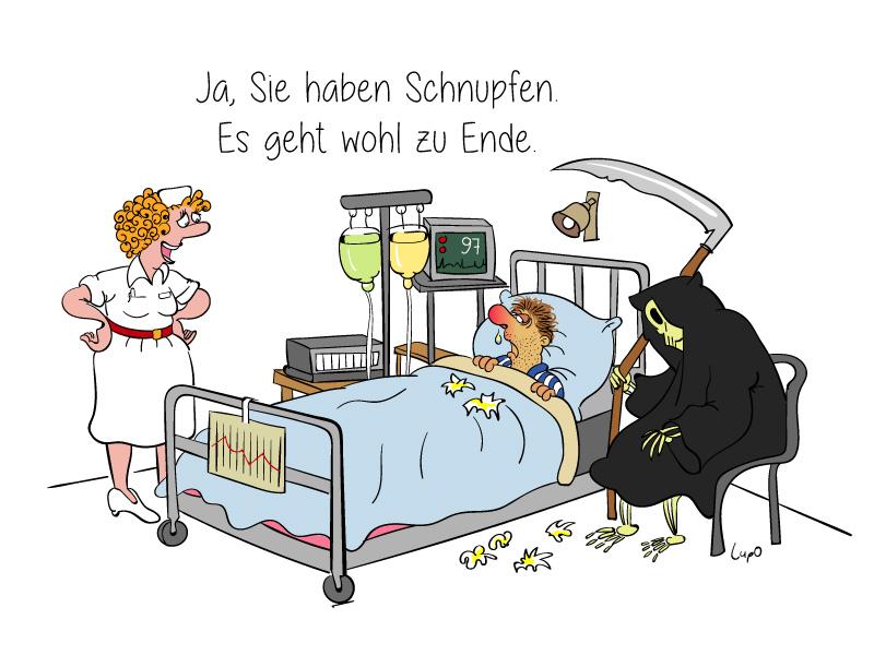 Cartoon | Männergrippe
